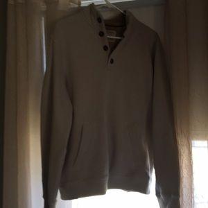 Men's 3/4 button fleece lined pullover sweatshirt